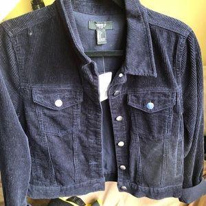 Dark blue corduroy jacket